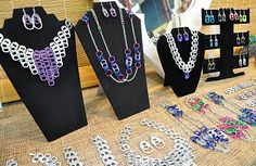 I love coming across unique jewelry fashioned from unlikely materials.    These necklaces and earrings are sold at Market Square in Saint John. Reasonably priced and made of soda tabs, they'll definitely give you that extra pop.    1 Market Square, Saint John, New Brunswick, 1 506 658-3600