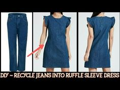 Diy clothes makeover old jeans Ideas - DIY Clothes Sweater Ideen Old Man Jeans, Diy Old Jeans, Recycle Jeans, Men's Jeans, Diy Clothes Makeover, Cut Shirt Designs, Jeans Trend, Diy Kleidung, Denim Crafts