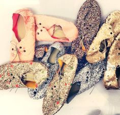 Anniel Soft Shoes Glitter Sequin www.annielmoda.com
