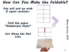 "Folding Fun:  A Few Templates for YOU! Folding white copy paper to create ""foldables"" is so much fun!  It is even more fun to use colored paper and/or markers (or other coloring supplie…"