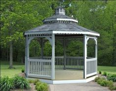 Vinyl Octagon Gazebo with Double Roof