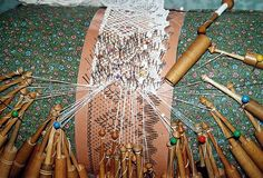 Bobbin Lace making.