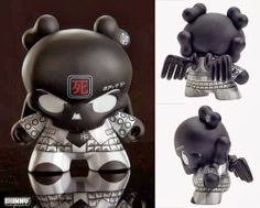 #onTOYSREVIL: Black Skullhead Dunny APs from @huck gee (March 21 sale)