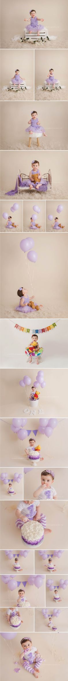 Cake Smash and 12 month milestone baby girl