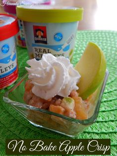No Bake Apple Crisp