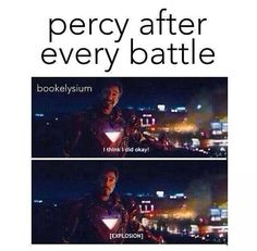 This takes my love of Percy Jackson and my love of Marvel and creates perfection