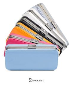 Bg Colorful Faux Leather Box Clutch Evening Bag