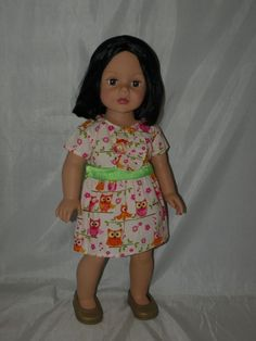 "Madame Alexander 18"" doll black hair and brown eyes"
