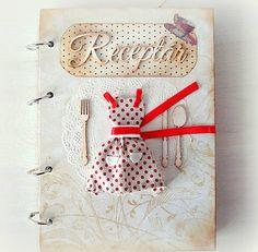 evkaelfka / Retro red receptárik
