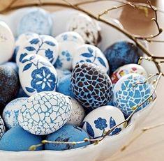 frohe ostern ostern basteln basteln ostern blaue eier