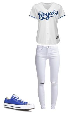 """""""Royals"""" by syragotswag ❤ liked on Polyvore featuring ONLY, Majestic and Converse"""