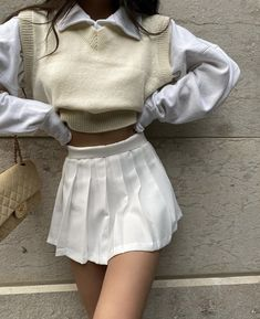 """fan outfits account on Twitter: """"… """" Indie Outfits, Retro Outfits, Girly Outfits, Cute Casual Outfits, Fall Outfits, Fashion Outfits, Vintage Outfits, Indie Clothes, Cream Outfits"""