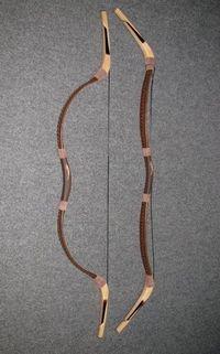 Mongol traditional recurce bow Khan