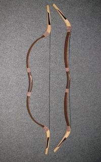 Mongol traditional recurce bow Khan