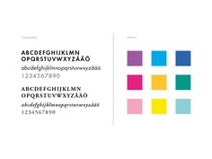 Graphic identity for Gothenburg City Library. Colours and typography.