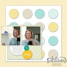 SU Artisan Design Team 2012, February 2013, MDS 12x12 Lemonade Stand me scrapbook page, by Marisa Gunn