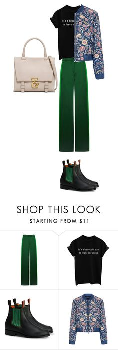 """""""a good day to leave me alone"""" by iamrukiye ❤ liked on Polyvore featuring Valentino, Needle & Thread and 10 Crosby Derek Lam"""