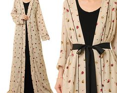 Boho Duster Cardigan | Bohemian Duster | Long Kimono Cardigan | Long Sleeve Cardigan | Duster Coat | Duster Kimono Robe L/XL/1X 6469