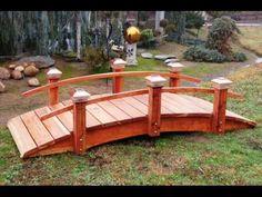 Woodworker Of Dreams Builds Garden Bridge For You !   YouTube
