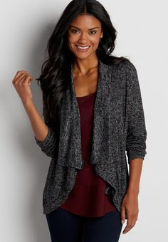On my wish list #wishpinwinsweepstakes #discovermaurices. ultra soft drape front cardigan (original price, $34.00) available at #Maurices