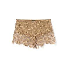 Nude Lace Boy Short (€1.115) ❤ liked on Polyvore featuring shorts, modaoperandi, pants, underwear, lace shorts, lacy boyshorts, lace boy shorts, boy shorts and lacy boy shorts