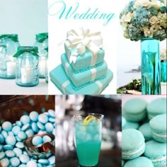 Omg.. I always said I want my wedding to be Tiffany themed! LOVE THIS!!