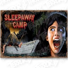 Officially Licensed Sleepaway Camp Slaughtering Ground Poster Print x Giclee Print Poster Ultra Hi-Definition and Colors Printed with Claria Hi-Def All Horror Movies, Horror Movie Posters, Horror Films, Sleepaway Camp, My Fantasy World, Movie Covers, 2 Movie, Halloween Horror, Sci Fi Art