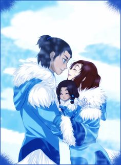 Sokka, Suki, and their little girl.  Awww!