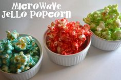 "Jello popcorn in the microwave.  My ""go to"" recipe for a quick, easy, and addicting snack!"