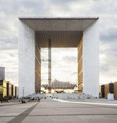 Located in Paris's business district, La Défense, La Grande Arche—the 20th-century counterpart to the Arc de Triomphe—was conceived by Danish architect Johann Otto von Spreckelsen | archdigest.com