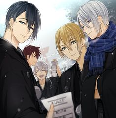 2d Character, Cute Anime Character, Hot Anime Boy, Anime Guys, Touken Ranbu Mikazuki, Mutsunokami Yoshiyuki, Ensemble Stars, Blue Butterfly, Anime Characters