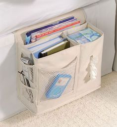 This I need! Natural Denier Bedside Remote Storage Caddy Bedroom Accessory - $16.45