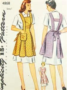 Image result for Free Aprons Pattern Retro