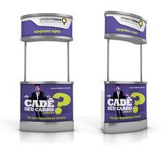 Stand para promover a campanha de vendas nas lojas Magazine Luiza