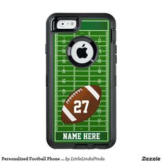 Personalized Football iPhone 6S case, iPhone 6 football case, Galaxy S7 case etc. CLICK: http://www.zazzle.com/personalized_football_phone_cases_name_and_number_otterbox_iphone_6_6s_case-256061605147804962?rf=238147997806552929 Your NAME and NUMBER on Personalized OtterBox iPhone Football Cases. CLICK for more Personalized Football Stuff HERE: http://www.zazzle.com/littlelindapinda/gifts?cg=196532339247083789&rf=238147997806552929 Call Zazzle Designer Linda: 239-949-9090