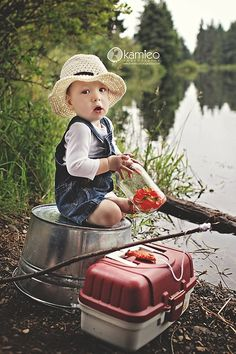 Fishing themed photo prop, so cute for lil boys!!!