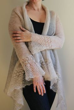 Mohair Cardigan | this is stunning, very fine yarn @Af's 15/4/13