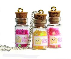 Stardust Miniature Glass Bottle Necklace  cute by BitOfSugar, $7.50