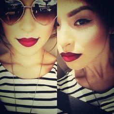 Nightmoth lip pencil & Ruby Woo lipstick. Mac Cosmetics
