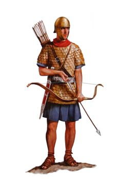 . Римский солдат морских вспомогательных частей (попросту - лучник), II век до н.э.