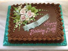 . Buttercream Designs, Buttercream Fondant, Buttercream Flower Cake, Cake Decorating Designs, Cake Designs, Russian Cake Tips, Super Torte, Birthday Sheet Cakes, Music Cakes