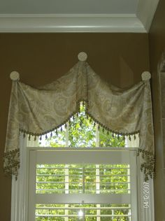 Custom Window Treatments - idea for bathroom window