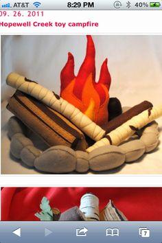 Kids Campfire Handmade Felt Toy, Pretend Flame Rocks Logs and Marshmallows Diy For Kids, Cool Kids, Crafts For Kids, Fun Projects, Sewing Projects, Indoor Playhouse, Dramatic Play, Imaginative Play, Handmade Felt