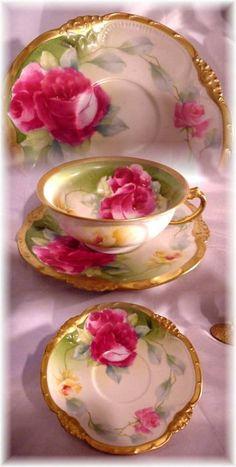 Antique Coronet Limoges Tea Cup And Saucer Antique Tea Cups, Vintage Cups, Vintage Dishes, Vintage Tea, Loose Tea Infuser, Teapots And Cups, Teacups, China Tea Sets, Breakfast Tea