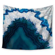 "Nature Photography KESS Original Blue Geode Wall Tapestry (51""x60"") - Kess InHouse : Target"