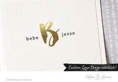 Premade Logo Design Text Only Logo Gold Foil by MadameLevasseur https://www.etsy.com/listing/228041032/premade-logo-design-text-only-logo-gold?utm_content=buffer23f08&utm_medium=social&utm_source=pinterest.com&utm_campaign=buffer