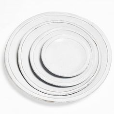 Astier de Villatte Simple Plates    Handmade on the Rue St. Honoré in Paris, these 18th-century inspired ceramics are crafted in a traditional pottery style passed down from generations.