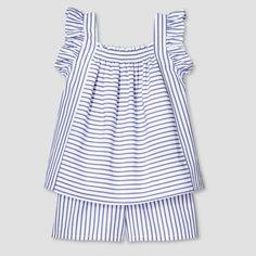 Victoria Beckham for Target Toddler Girls' Blue Stripe Poplin Tank Top and Short Set, $20..