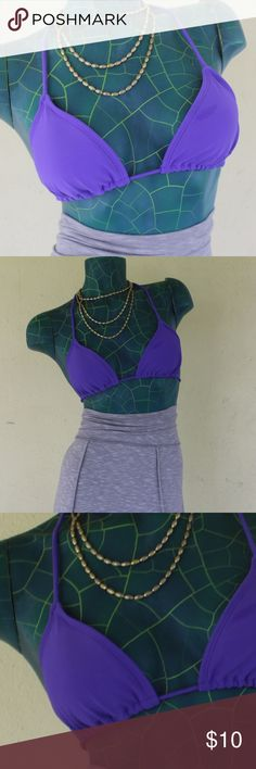 ⭐️ OP Ocean Pacific Purple Bikini halter top 2/$15 Pair this with most any color bottoms!  An OP Ocean Pacific basic purple bikini top. Bra slides for your fit and comfort.  Removable padding in cups.  Halter top self ties at neck and back.  Size Small, 3 - 5.  Bundle with other bikinis listed for additional savings! Any 2 bikini tops - 2 for $15 for a limited time. Bundle and I'll make a custom bundle for you! OP Swim Bikinis