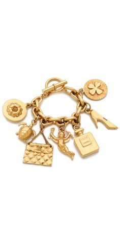 Vintage Chanel Charm Bracelet i realky need this